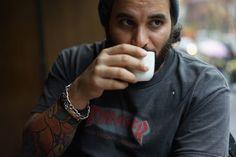 Peter Pabon, NY photographer, drinking #tea. Image via massappeal.com.