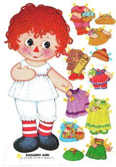 *RAGGEDY ANN ~ Printable Paper Doll