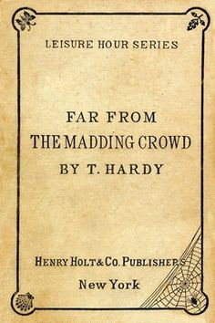 Far from the Madding Crowd by Thomas Hardy - free #EPUB or #Kindle download from epubBooks.com