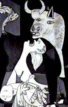 """El """"Guernica"""" de Picasso y sus símbolos: el toro ibérico, el caballo víctima y el guerrero herido. Habla Jorge Oteiza"""
