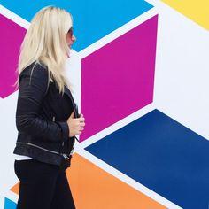 Fierce Fall Basics | f/t on Her Tasty Life | Statement Bib Necklace, Mirrored Sunglasses, Leather Moto Jacket