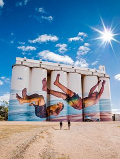 silos at Tumby Bay, South Australia Pictures To Paint, Art Pictures, Photos, Reptiles, Grafitti Street, Farm Art, Water Tower, Weird Pictures, Country Art