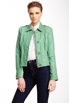 Rachel Zoe Celia Leather Jacket on HauteLook