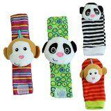 Yontree Animal Infant Baby Kids Wrist Rattle & Foot Finder Set Developmental Soft Toys 4 Pcs - http://www.partyopedia.com/yontree-animal-infant-baby-kids-wrist-rattle-foot-finder-set-developmental-soft-toys-4-pcs-2/