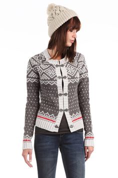 Skiing cardigan