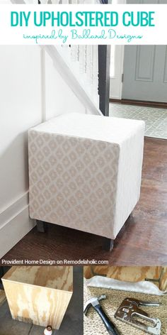 Diy pouf ottoman tutorial and lessons learned pretty handy girl add seating and comfort with an easy multipurpose diy upholstered cube ottoman or stool you solutioingenieria Images