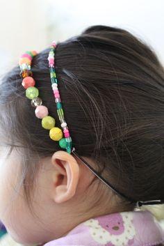 Simple DIY beaded headband for your little girl