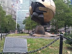 The Fritz Koenig Sphere at its current location in Battery Park (July, 2012). #thesphere #911memorial #wtc #nyc