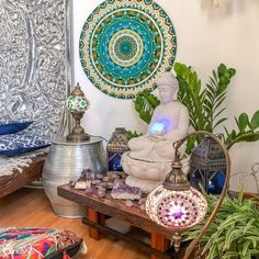 Meditation Room Decor, Meditation Corner, Meditation Altar, Meditation Space, Relaxation Room, Buddha Decor, Spiritual Decor, Hippy Room, Yoga Decor