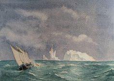 Iceberg dans le Pacifique - H. Zuber - 1868 - Coll. part.