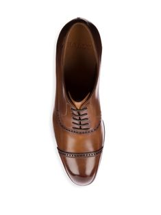 Bally Lamior Cap Toe Leather Dress Shoes - Caramel 10.5 D
