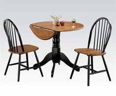 Mason Casual Cherry Black Wood 3Pc Dining Set