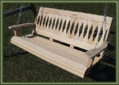Wooden Porch Swings - Porch Swings - Patio Swings - Outdoor Swings