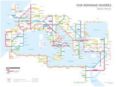 Se le strade dell'Antica Roma fossero le linee di una metropolitana - Frizzifrizzi