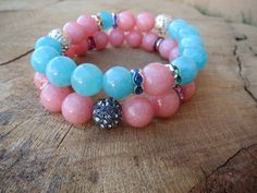 Check out this item in my Etsy shop https://www.etsy.com/listing/238673926/women-pastel-color-bracelets-blue