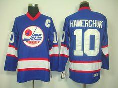 Winnipeg Jets 10 Dale HAWERCHUK CCM Vintage Hockey Jersey Blue