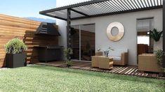Finest 150 Minimalist Small Terrace Designs for Small Houses Terrace Design, Patio Design, Exterior Design, Backyard Patio, Backyard Landscaping, Small Terrace, Modern Pergola, Pergola Attached To House, Small House Design
