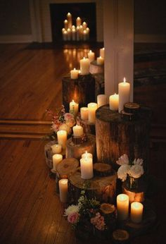 love these candles at different heights