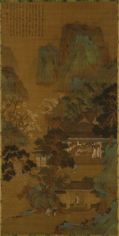 The Hall of Precious Paintings 17th century Qiu Ying , (Chinese, ca. 1494-1552) Ming or Qing dynasty Ink and color on silk H: 197.5 W: 98.4 cm China