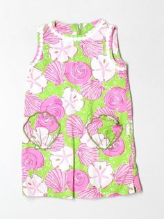 Toddler Girl Lilly Pulitzer Sandy Toes Shell Sand Dollar Shift Dress Size 3T