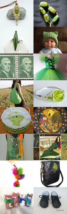 Art Team Summer Green  by Ellen Lyons Nagel on Etsy--Pinned+with+TreasuryPin.com