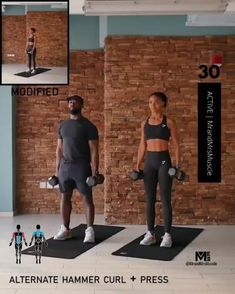 A full body HIIT workout — no equipment required Improve heart health, increase fat loss and strengthen and tone your muscles. Hiit Workout Videos, Full Body Hiit Workout, Dumbbell Workout, Gym Workouts, At Home Workouts, Bikini Fitness, Bikini Workout, Body Fitness, Chest Workout Women
