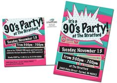 90s themed party invitation - Google Search More