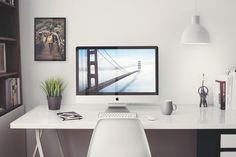 Free iMac 5k Retina 27-Inch Home Office Mockup for Gratis #onselz