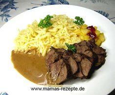 Hirschbraten   Mamas Rezepte - Alle Rezepte mit Bild und Kalorienangaben