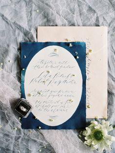 Navy blue calligraphy: http://www.stylemepretty.com/vault/gallery/39069 | Photography: Charla Storey - http://www.charlastorey.com/