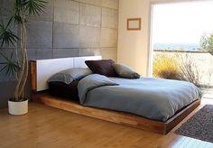 Lax Platform bed with headboard