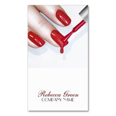 This great business card design is available for customization. All text style, colors, sizes can be modified to fit your needs. Just click the image to learn more! Salon Business Cards, Business Card Design, Rebecca Green, Name Card Design, Modern Nails, Get Nails, Nail Studio, Nail Technician, Nail Spa