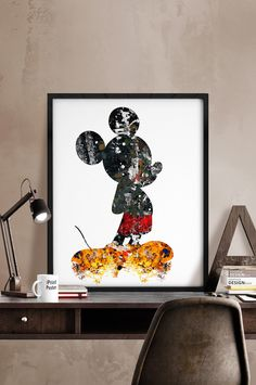 Mickey print, Mickey abstract, Disney poster, Disney art, Mickey Illustration, Mickey mouse, Wall art, Kids decor, nursery decor, Home Decor by iPrintPoster on Etsy https://www.etsy.com/listing/224277722/mickey-print-mickey-abstract-disney