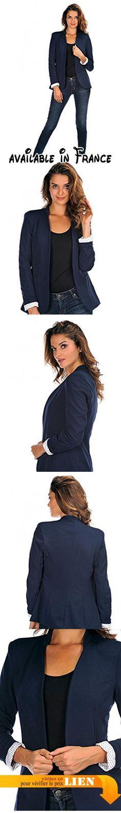 B0732WGD8Q : Doucel - Veste ROMANTIK Ref. ERIN Taille Femme - 38 Couleur - bleu foncé.