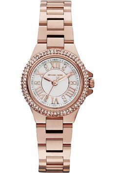 Michael Kors Mini Camille Watch - rose bracelet   white dial MK3253 £150  Cheap Michael 458edcb22b