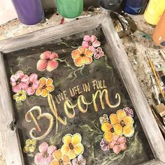 Live life in Full Bloom! T Art, Garden Signs, Live Life, Etsy Seller, Bloom, Photo And Video, Artist, Crafts, Painting