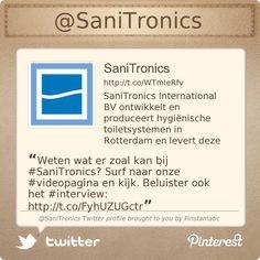 Weten wat er zoal kan bij #SaniTronics? Surf naar onze #videopagina en kijk. Beluister ook het #interview: http://www.sanitronics.eu/sanitronics/videos.html …