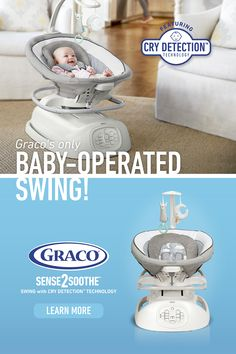 The Graco® Swing with Cry Detection™ Technology is the only swing that's baby-operated. Visit the website to learn more! Baby Needs, Baby Love, Baby Life Hacks, Baby Food By Age, Kairo, Baby Gadgets, Baby Planning, Baby Necessities, Baby Swings