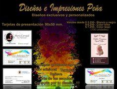 Tarjetas de presentación 2016, elaboradas por Dimpena. Diseños e Impresiones Peña #dimpena #valparaiso #chile
