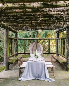 Photography : Maria Lamb Photography | Wedding Venue : Camp Korey | Styling : Kaleb Norman James Design | Event Planning : Kaleb Norman James Design Read More on SMP: http://www.stylemepretty.com/2015/07/20/whimsical-washington-garden-wedding-inspiration/