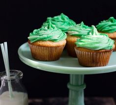 Irish Vanilla Cupcakes with Bailey's Buttercream Frosting  Ingredients  CUPCAKES: 1 ¾ cup all-purpose flour 1 Tbsp baking powder ½ tsp salt ½ cup butter, at room temperature 1 cup sugar 2 eggs ¼ cup Bailey's ½ cup Natrel Milk FROSTING: 4 ounces butter, at room temperature ¼ cup Natrel Milk 2 Tbsps Bailey's 4 cups powdered