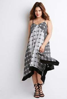 Abstract Geo Trapeze Dress   Forever 21 PLUS - 2000131430
