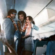 """May 19, 1972 Elvis In The Plane Leaving Hawai'i. Shortly After This Trip, Elvis Gave A Press Conference In New York City On June 9, 1972. """"The Prince From Another Planet""""  As Called By One New York Journalist Hit The Stage As A Tornado And Devastated The Big Apple For Three Consecutive Days!"""""""