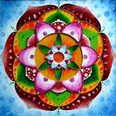 "Glass painting ""Mandala - Flower of Femininity"", hand painted glass"