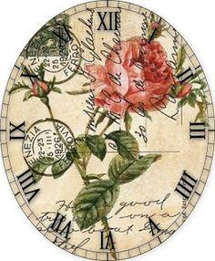 MEIN Stamm DECOUPAGE: Uhren
