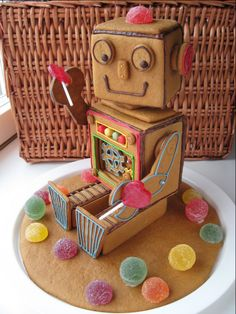 Inspiration: Gingerbread Robot Thinking outside the box? try making a gingerbread robot?!