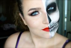 Blend N Smack: Halloween Tutorial #1: Half Skull, Half Glam