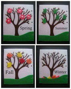 quiet+book | Mevsimler... mevsimlere göre uygun olan nesneleri yerleştirme