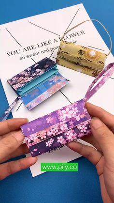 Cool Paper Crafts, Paper Crafts Origami, Origami Paper, Diy Paper, Paper Art, Diy Wallet Paper, Oragami, Diy Origami Wallet, Diy Origami Cards