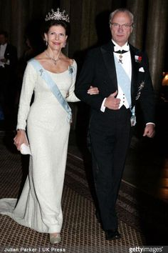 Queen Silvia wore this tiara for the Nobel Laureates Dinner on December 11, 2005.